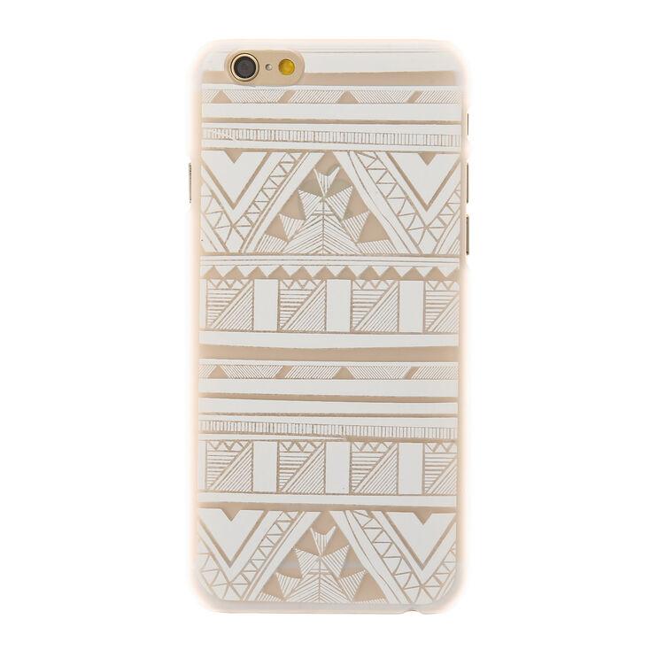 White Aztec Phone Case,