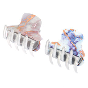 Marble Foil Hair Claws - 2 Pack,