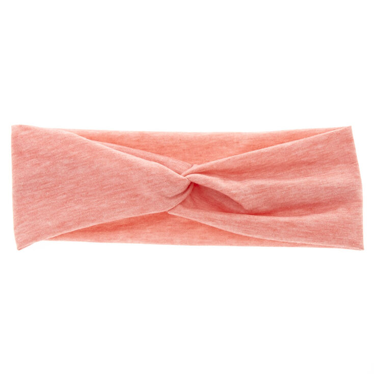 Marled Coral Headwrap,