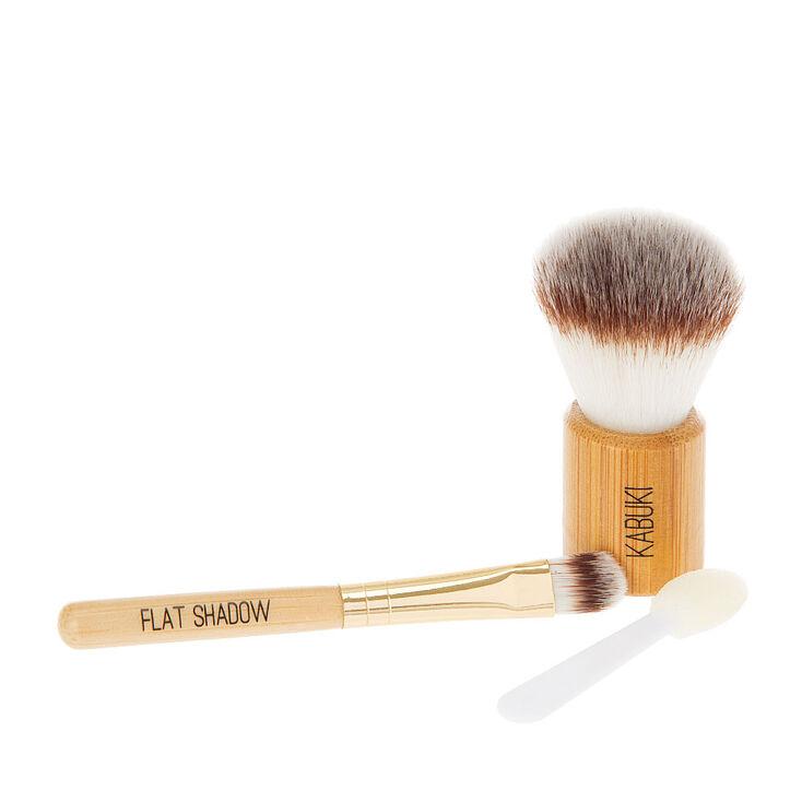 Bamboo Cosmetic Travel Brush Set,