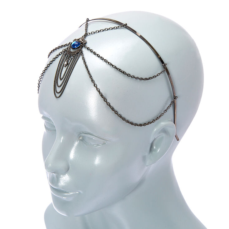 Hematite Blue Eye Stone Headband,