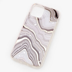 Gray & White Agate Phone Case - Fits iPhone 11 Pro,