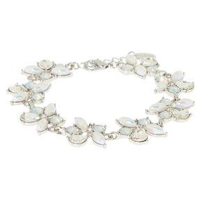 Silver Mermaid Pearl Statement Bracelet,