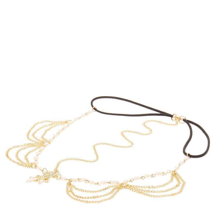 Gold & Pearl 3-Way Head chain,
