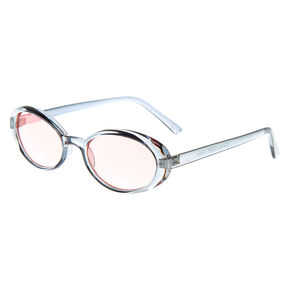 Oval Sunglasses - Blue,