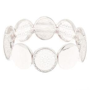 Silver Filigree Disc Stretch Bracelet,