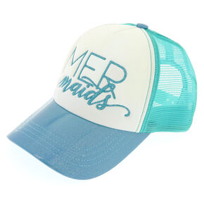 Turquoise Mermaids Bridesmaid Trucker Hat,