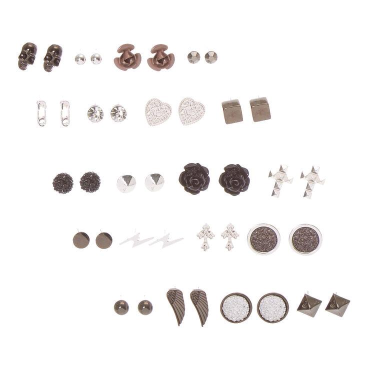 Gothic Romance Stud Earrings Set of 20,