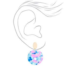 """2"""" Tortoise Shell Drop Earrings,"""