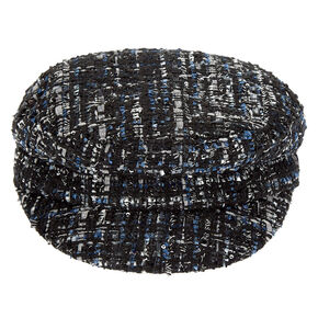 Tweed Captain Hat - Black,