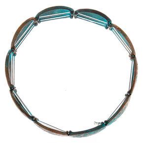 Patina Disk Stretch Bracelet,