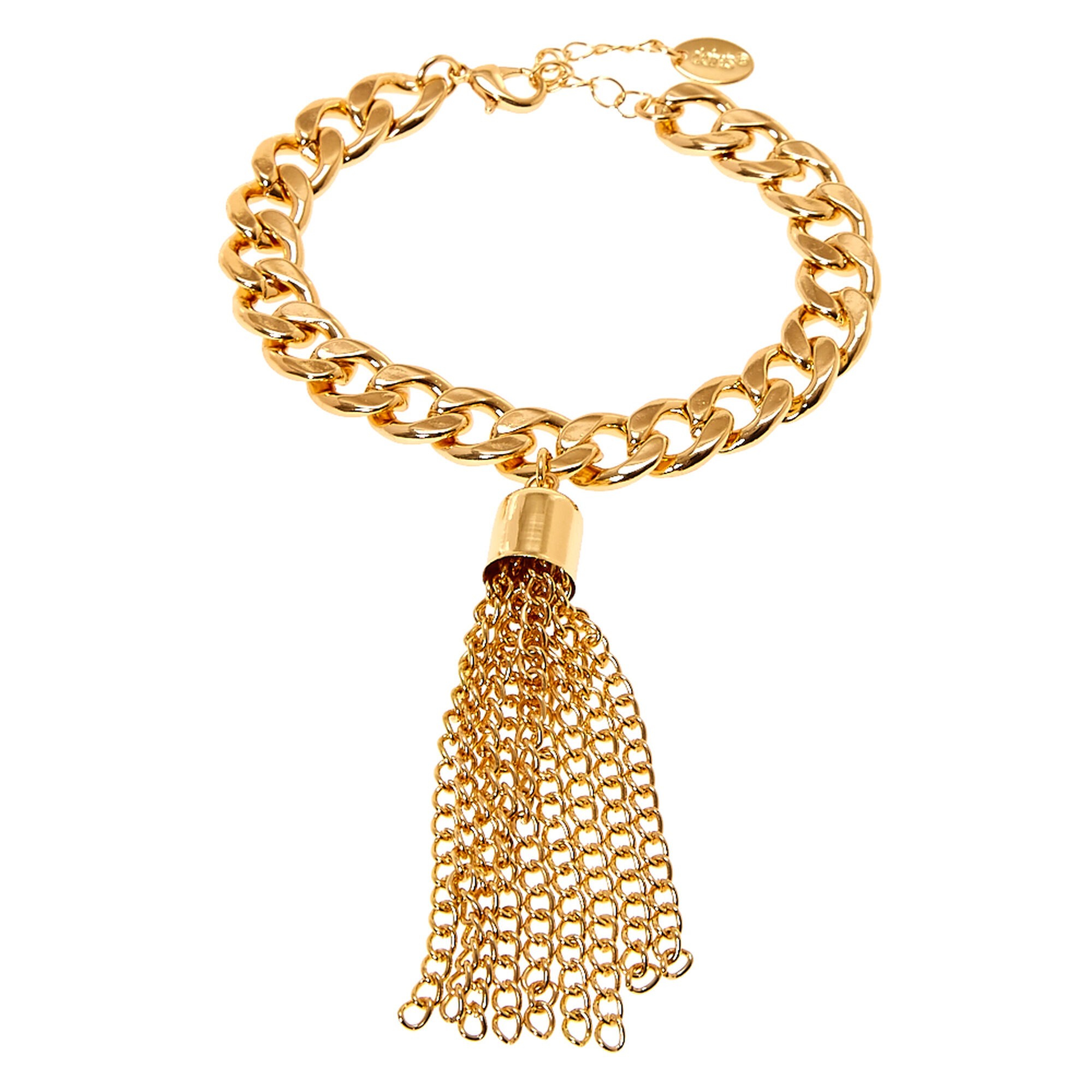 bracelet link gold us chain thick with wide icing tassel