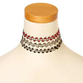 Beaded Tattoo Choker Necklace,