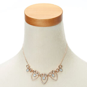Rose Gold Vintage Crystal Jewelry Set,