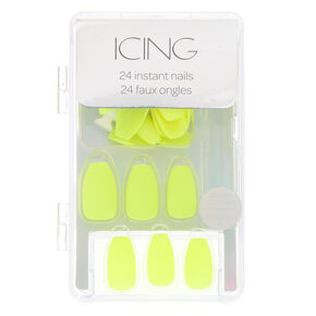 Citron Matte Faux Nail Set,