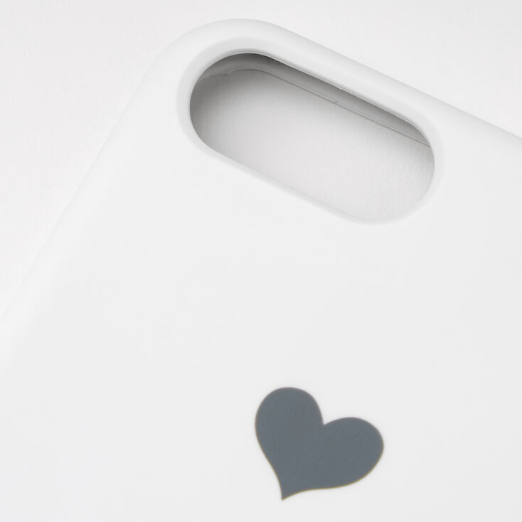 White Heart Phone Case - Fits iPhone 6/7/8 Plus,