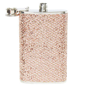 Rose Gold Sequin Flask,
