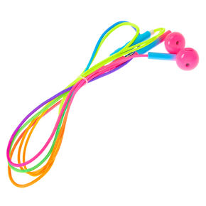 Neon Rainbow Earbuds with Mic,