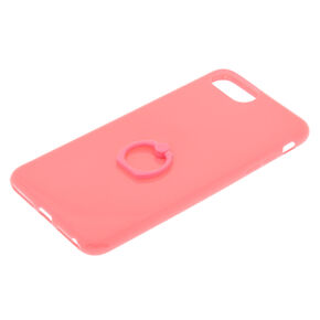 Pink Ring Holder Phone Case - Fits iPhone 6/7/8 Plus,