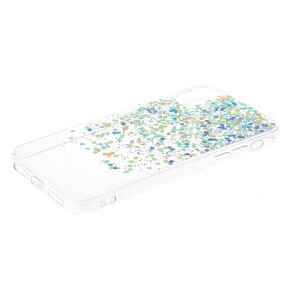 Cascading Holographic Purple Glitter Phone Case - Fits iPhone X/XS,