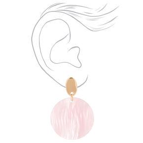 """Tortoise Shell 2"""" Drop Earrings - Pink,"""