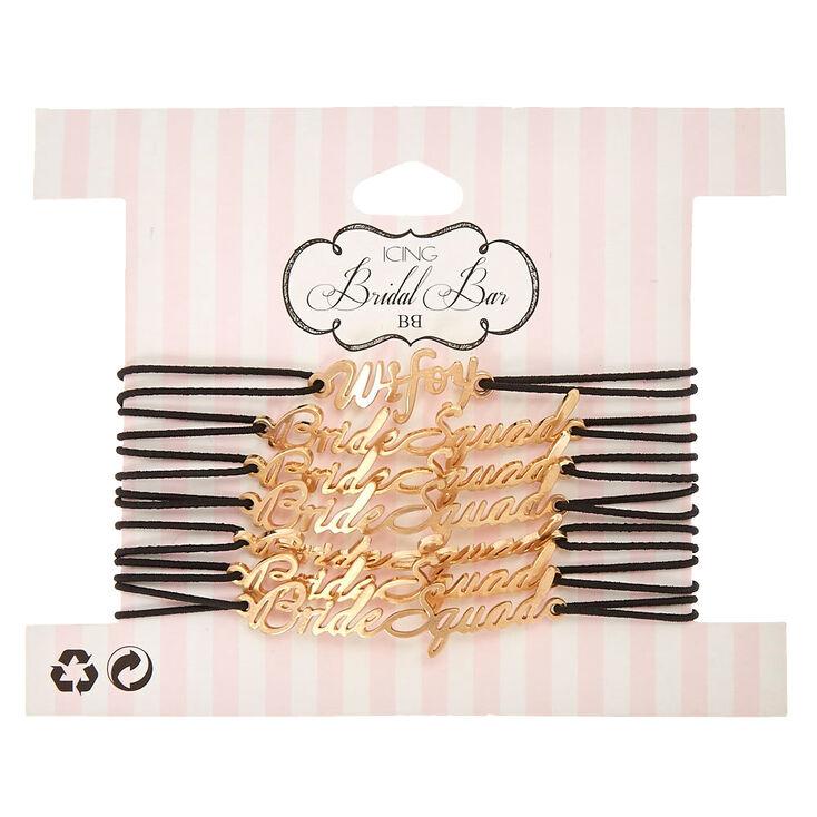 7 Pack Wifey & Bride Squad Stretch Bracelets,
