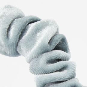 Ruffled Velvet Headband - Mint,