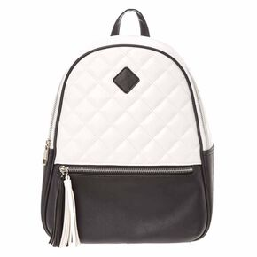 Monochrome Quilted Midi Backpack,
