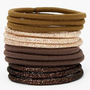 Bronze Nude Luxe Hair Ties - 12 Pack,