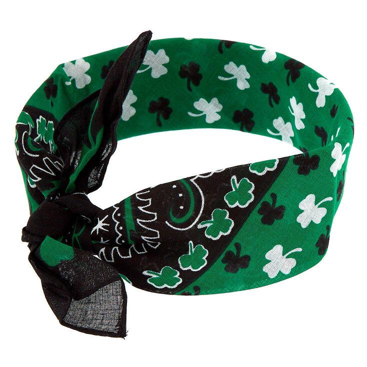 Shamrock Bandana Knot Headwrap - Green,
