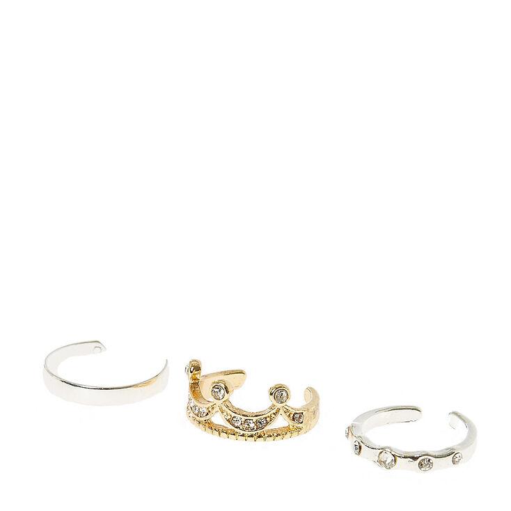 Crown Toe Rings,