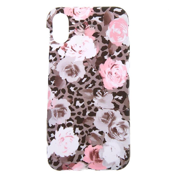 Leopard Rose Phone Case - Fits iPhone X/XS,