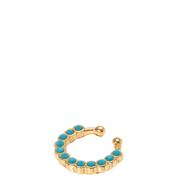 Faux Gold Turquoise Septum Ring,