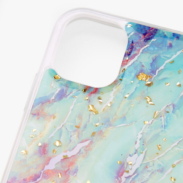 Gold Flecked Pastel Marble Phone Case - Fits iPhone 11,