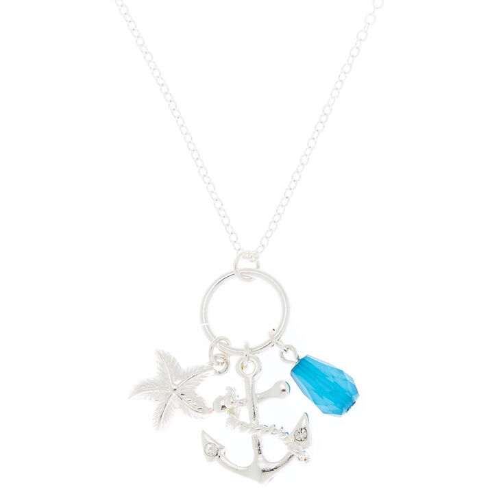 Silver Under the Sea Long Necklace - Turquoise,