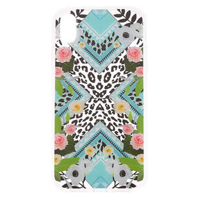 Floral Leopard Print Phone Case - Fits iPhone XR,