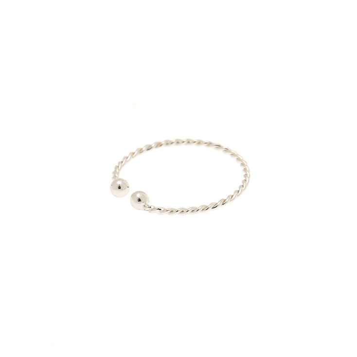 Silver Braided Faux Nose Ring,