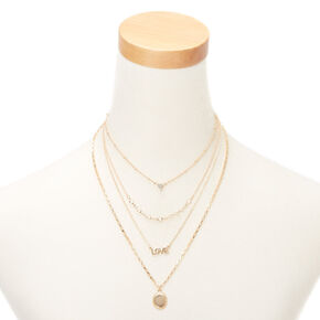 Gold Love Multi Strand Necklace,