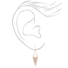 Rose Gold Marble Earring Set - 3 Pack,