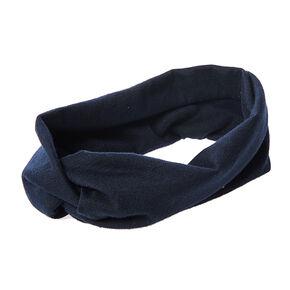 Navy Jersey Turban Headwrap,