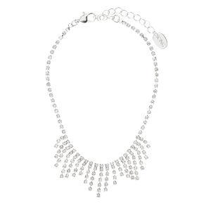 Silver Crystal Drop Anklet,