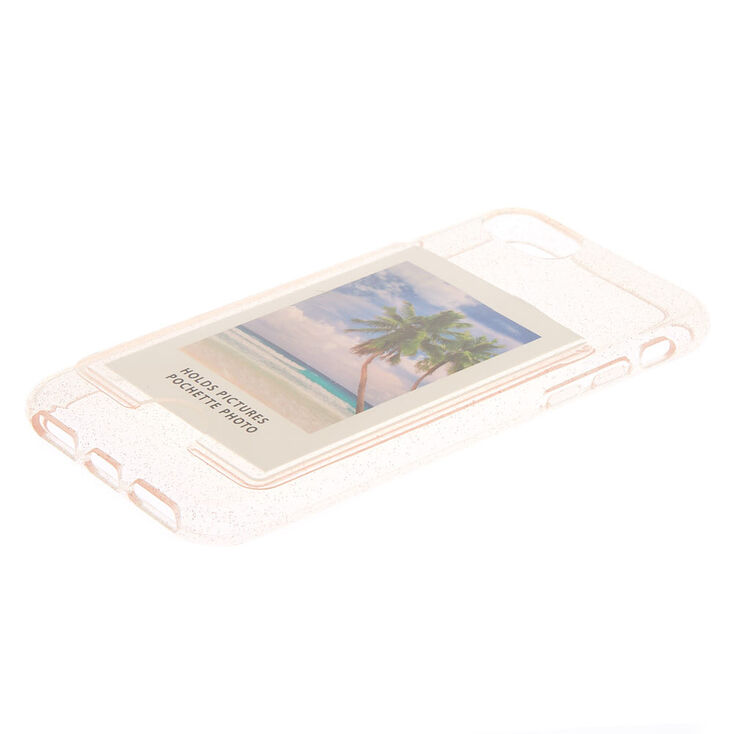 Clear Glitter Instax Mini Pocket Protective Phone Case - Fits iPhone 6/7/8 Plus,
