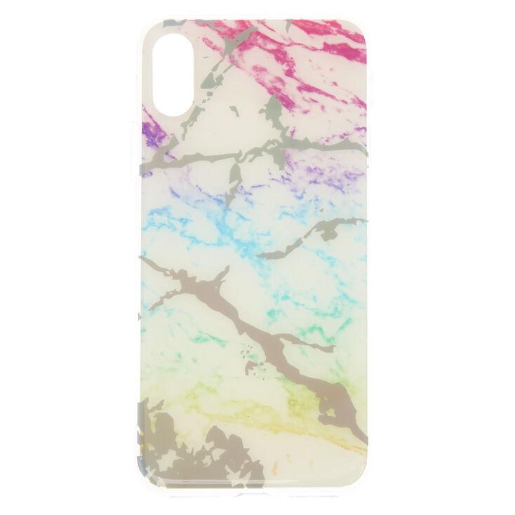 Holographic Rainbow Marble Phone Case,