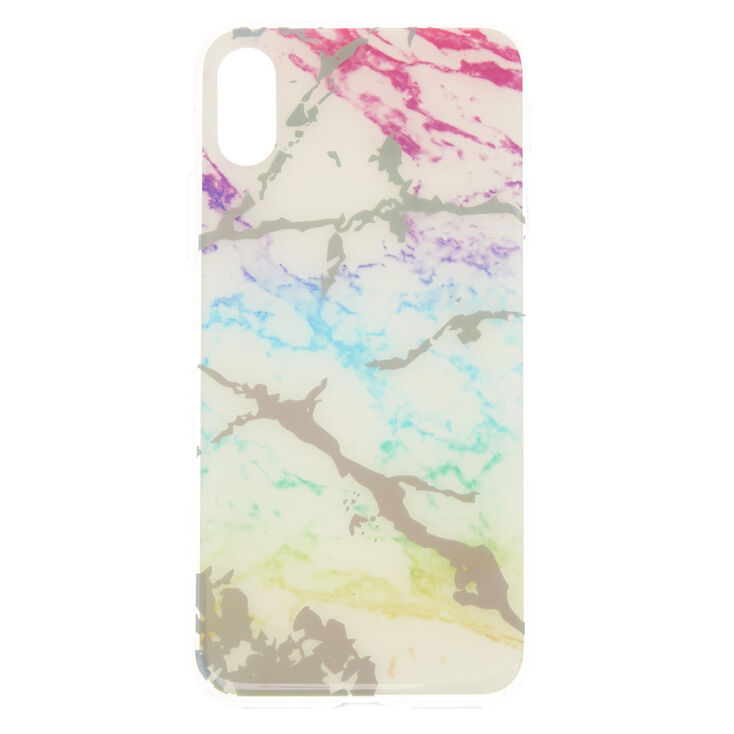 Holographic Rainbow Marble Phone Case - Fits iPhone X/XS,