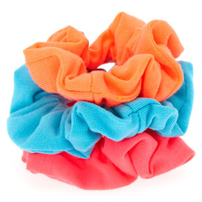 Small Bright Neon Hair Scrunchies - 3 Pack,