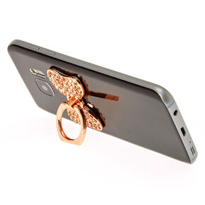 Rose Gold Stone Studded Bow Ring Stand,