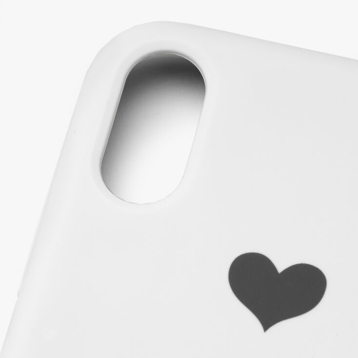 White Heart Phone Case - Fits iPhone XR,