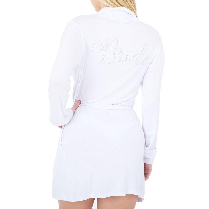 Jersey Bride Robe - White,