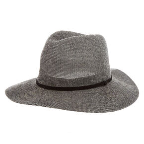 Panama Straw Sun Hat - Gray,