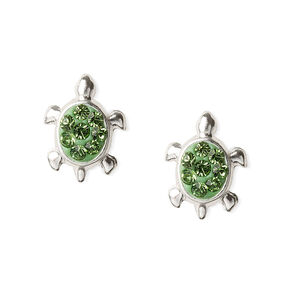 Sterling Silver Turtle Stud Earrings,